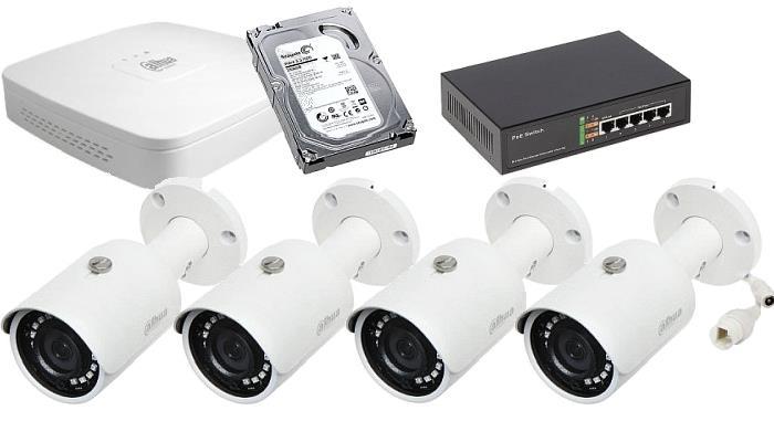 sada IP kamer a NVR DAHUA 4Mpix